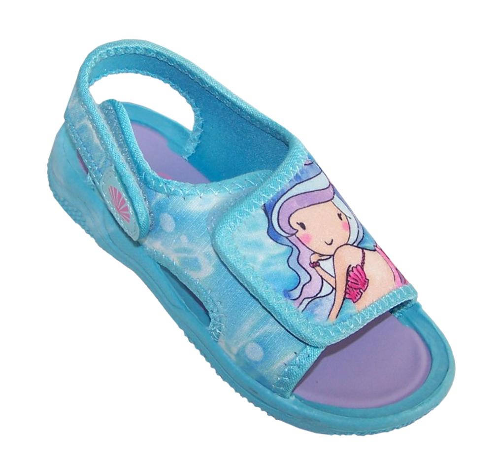 Girls blue mermaid casual sandals-0